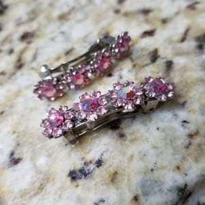 Swarovski Crystals Spring Hair Clips